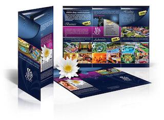 Brochure printing sample pack